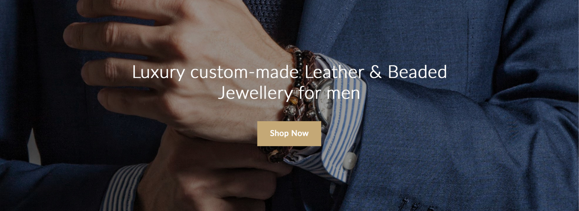 Luxury custom-made leather & beaded jewellery for men